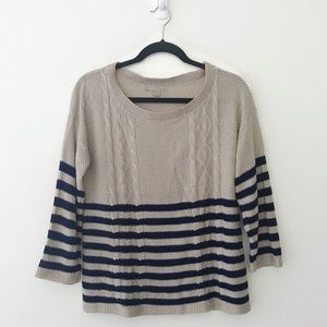OneA Striped Cable Sweater